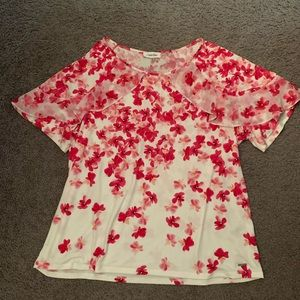 Pink and while Calvin Klein top size 0X